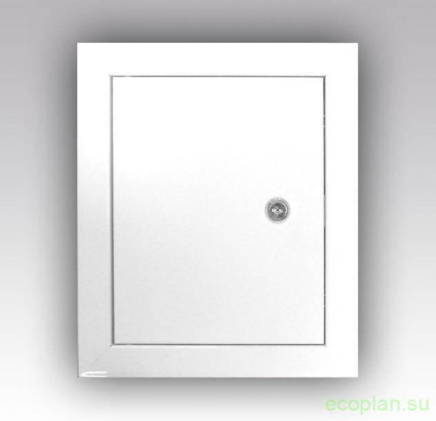 Дверка на люк в ванной металл